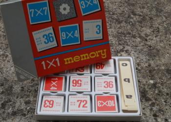 Familiespil – memory – 1×1 – 2 til 10 personer