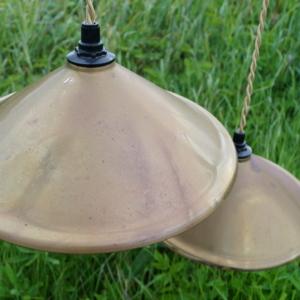 Køkkenlamper – Messing 25 cm – 2 stk incl. ledning.