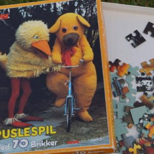 Bamse og kylling Puslespil. Retro klassiker for børn. 70 brikker.
