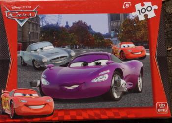 Biler / Cars puslespil 100 brikker for børn over 5 år. Som nyt.
