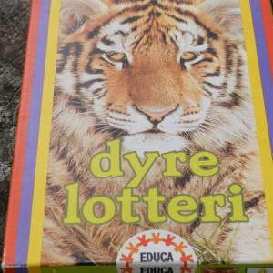 Dyrelotteri fra EDUCA. Klassisk læringsspil for de mindste. Vintage stand