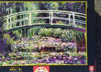 Puslespil 1500 brikker Eduka, Claude Monet motiv. Som nyt