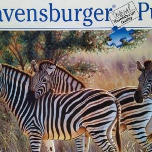 Puslespil 1000 brikker zebramotiv , som nyt. Eduka