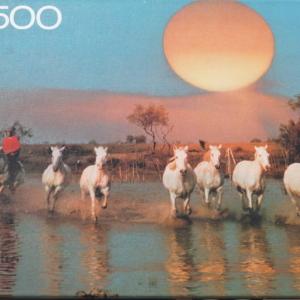 MB Puslespil 500 brikker. Galloperende heste fra 1987