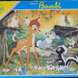 Bambi puslespil fra Disney- Træbrikker i høj kvalitet 40 brikker. For de mindste