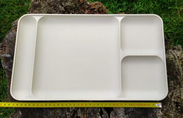 Tupperware TV serveringsbakke vintage i beige~2