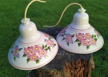 Smukke keramik lamper 22,5 cm i diameter. Sætpris