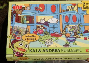 Kaj og Andrea puslespil fra DR 2×25 brikker