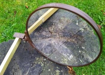 Vintage badeværelse teleskop foldespejl 18 cm