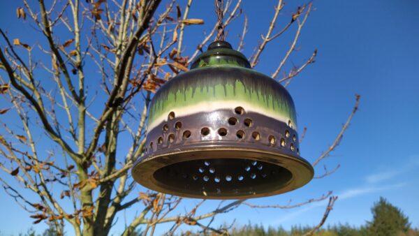 Retro lampe til spisebordet i lækker retro grøn keramik, Retro-Lampen, retro lampen, retro lampor