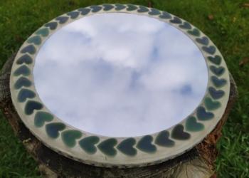 Lækkert vintage spejl i mosaik