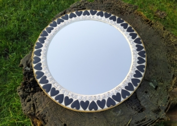 Retro mosaik spejl