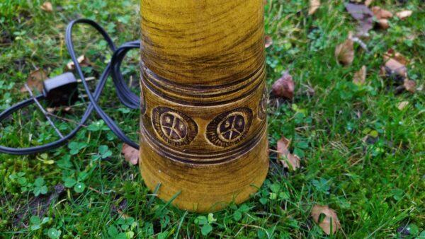 Holbæk keramik lampe karry farve
