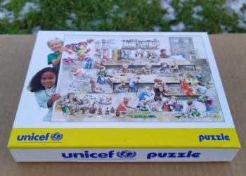 Klassisk UNICEF puslespil fra 90 erne i go stand.