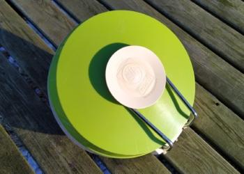 Retro Eva køkkenvægt i grøn. 0-3 kilo.