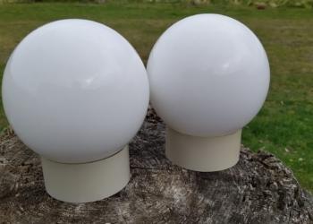 2 STK Glas kupler til badeværelset. Sætpris