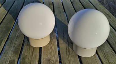 2 STK Glas kupler til badeværelset. Sæt pris