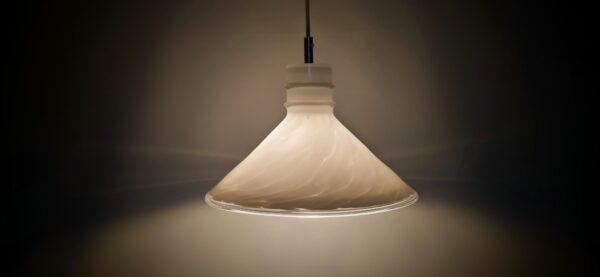 Stor retro glaspendel i dansk design
