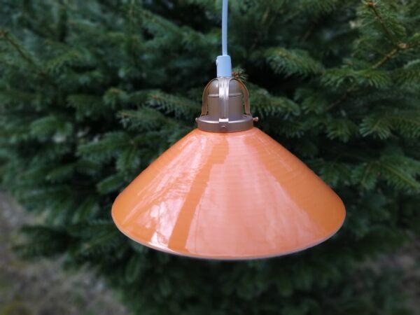 Orange Søholm keramik pendel. Klargjort. 27 cm