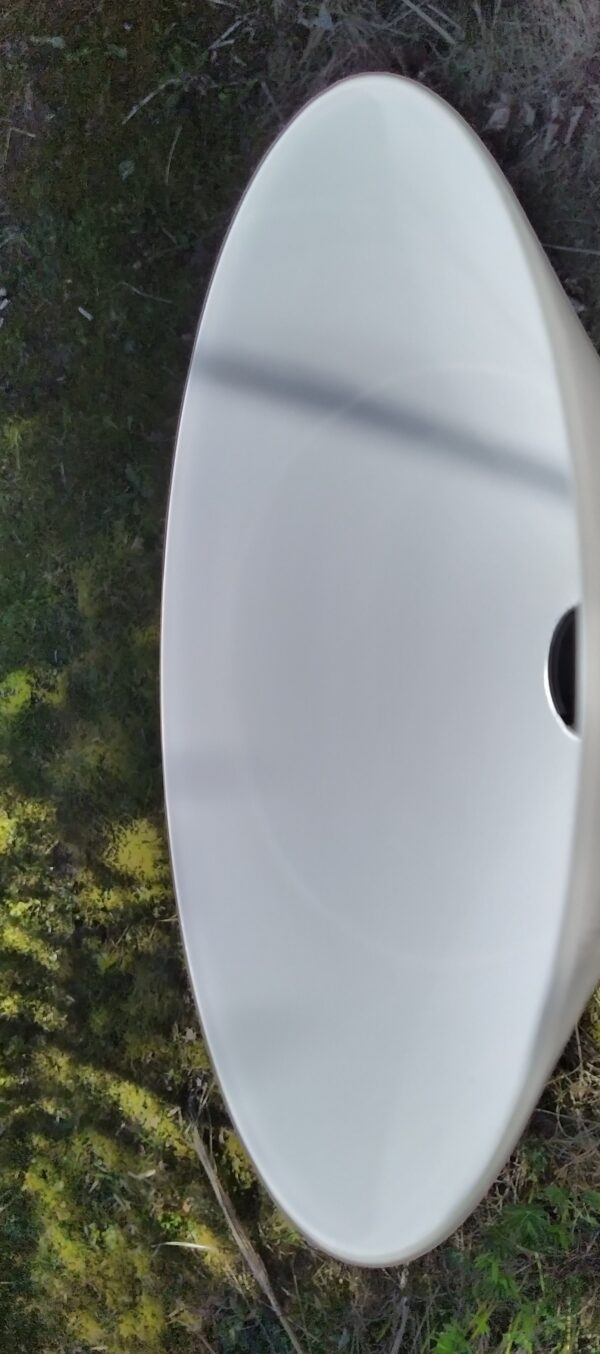 Holmegaard skomagerpendel i opalglas. 26 cm. Klargjort.