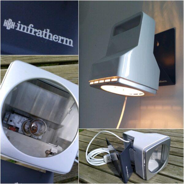 Unika Infotherm væglampe fra 70 erne. Perfekt til klinik eller til det stilfulde hjem.