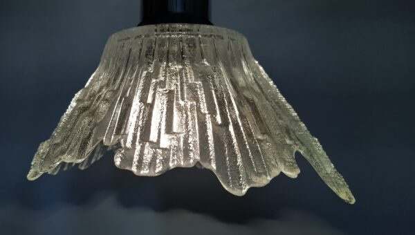 2 smukke klargjorte design lamper. Finsk design af Tauno (Tapio) Wirkkala for Humppila glass.
