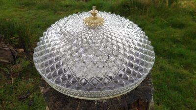 Stor smuk diamant plafond. 34 cm.