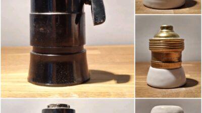 Lampefatninger Bakelit /Messing/Porcelæn m.m
