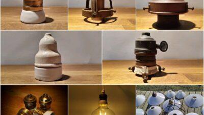 Gamle reservedele / Byg selv din lampe