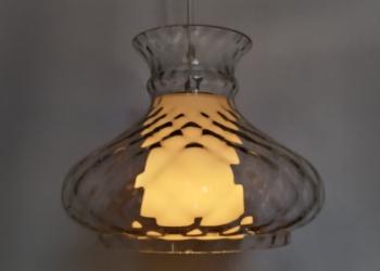 Holmegaard upcycled glaspendel. 24 cm. Nyt el.