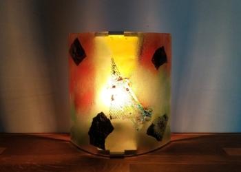 Unika kunsthåndværk i 1,5 kilo glas. Carmen Harusta abstrakt.