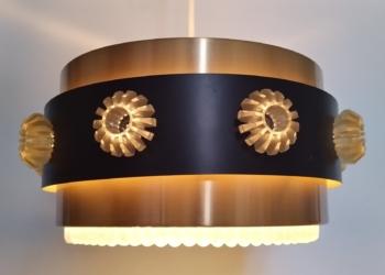 Smuk kobberpendel til spisebordet. Nyt el. Retro lampe.