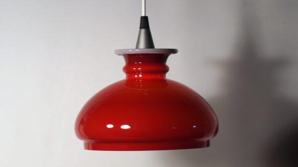 Holmegaard glaspendel bordeaux rød