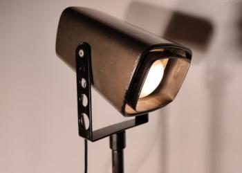 Sjælden svensk BOFA skrivebords lampe 80 cm høj.