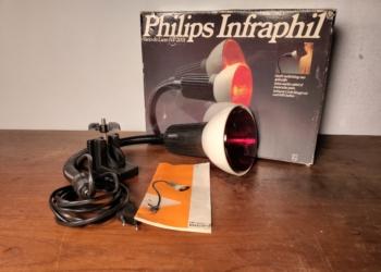 Philips Infraphil Vario de luxe HP 2001. Ny og ubrugt infarød lampe fra 1985 i original kasse