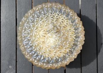 Stor plafond med stjernemønster. Hologram skær. 24,5 cm