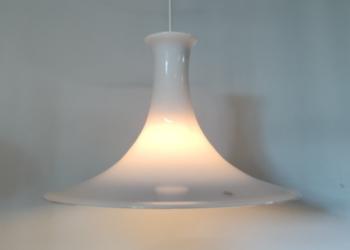 Stor Holmegaard mandarin opalglas pendel Michael Bang – 44 cm. Nyt el. 1/2
