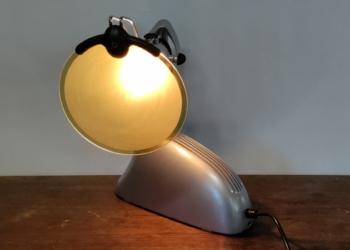 Speciallavet vintage Chicago zephyr bordlampe fra 50 erne. Upcycled. Unika lampe.