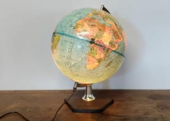 Stor globus fra 70 erne. Scan globe type 5. Made in Denmark