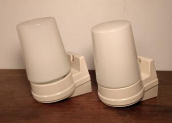 Store Ifø Bernadotte badeværelse design lamper model 6070. Sæt med 2 STK. Samlet pris.