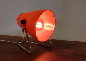 Unika lampe. Phillips type G160 fra 70 erne. Orange med smukt lys gennemstrømning. E27